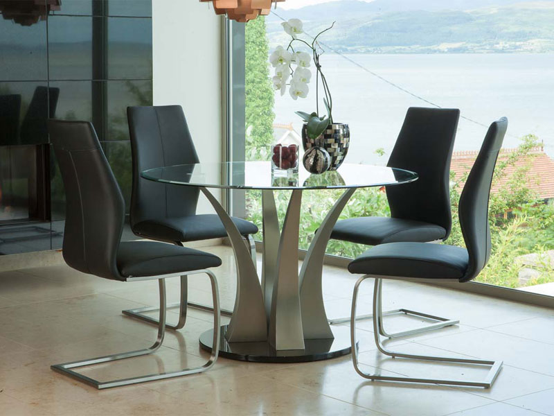Liberty Dining Table and 4 Irma Chairs Black Main