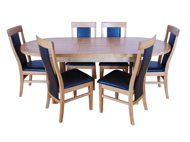 Texas Oval Dining Table and Chairs Main